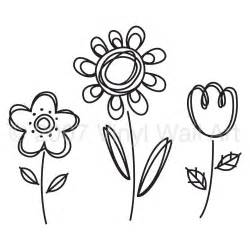 Funky Wall Stickers 3 doodle flowers vinyl decal large