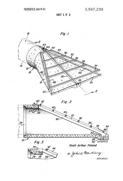 mitered end section patent us3587239 culvert bevelled end construction with