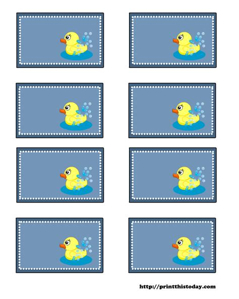 Printable Baby Shower Labels Free by Free Baby Shower Labels With Duck