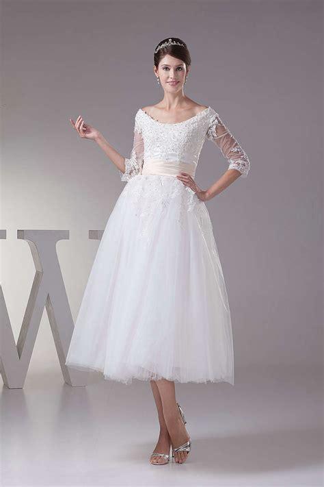 tea length wedding dresses uk buy cheap tea length tulle wedding dresses with sleeves