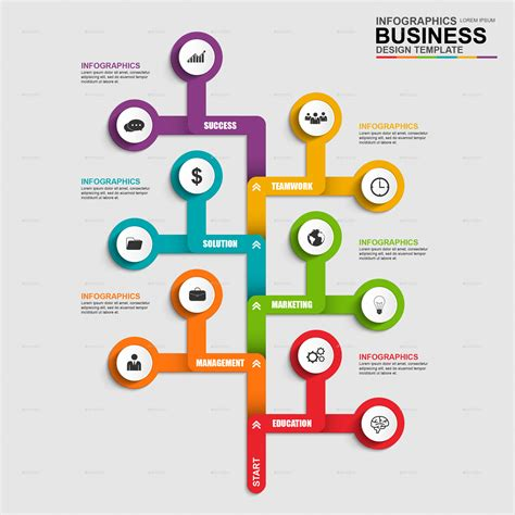 abstract 3d business tree timeline infographic by alexdndz