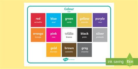colors in portuguese colour word mat portuguese colour vocabulary