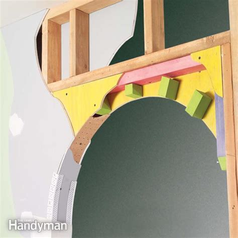 How To Make An Arched Door Frame drywall repair drywall repair around window frame