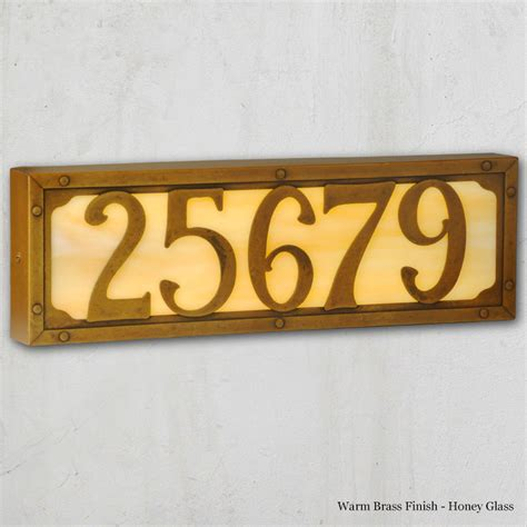 lighted house numbers illuminated house numbers american handmade family owned