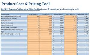 food cost spreadsheet template small food business food product cost pricing calculator