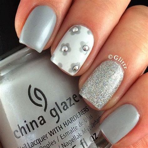 grey pattern nails grey nail art ideas nail art ideas