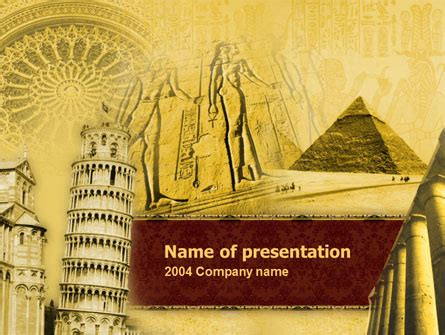 Historical Monuments Powerpoint Template Backgrounds 00113 Poweredtemplate Com Historical Template