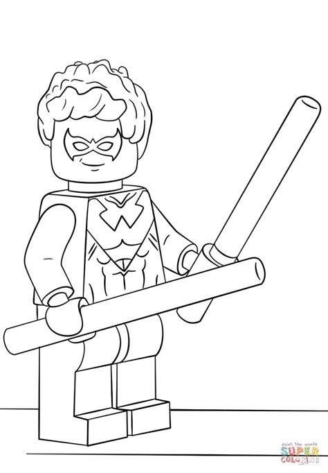 lego nightwing tutorial lego nightwing coloring page free printable coloring pages