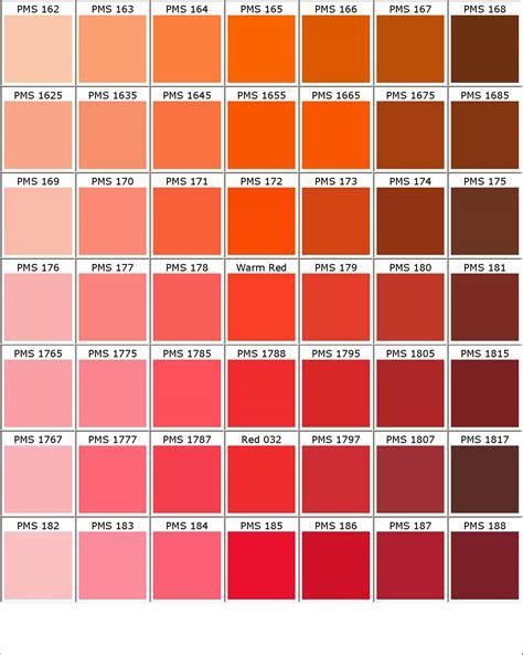 orange shades names orange red color names