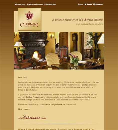 hotel newsletter layout newsletter template designs to match your business brand