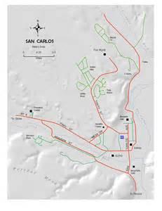san arizona map san carlos forestry