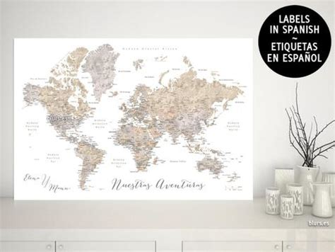 printable world map in spanish maps world maps with cities capitals countries states
