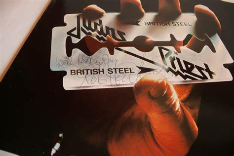 home of metal judas priest british steel lp signed by