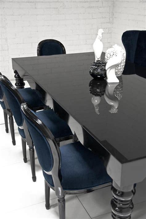 Bel Air Dining Table Bel Air Dining Table In High Gloss Black Modshop