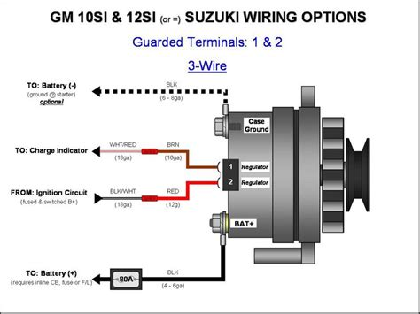 187 gm 10si 12si alternator wiring 3 wire gm