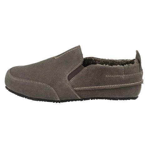 clarks mens slip on house slippers kite laser ebay