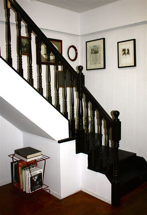 black staircase how to paint a staircase black googled then oogled