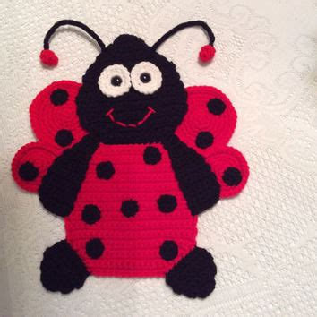 pattern for baby wall hanging crochet ladybug pattern wall hanging from teddywings on etsy