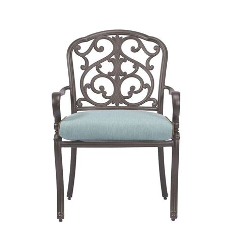 home decorators dining chairs home decorators collection madrid aluminum cast back patio