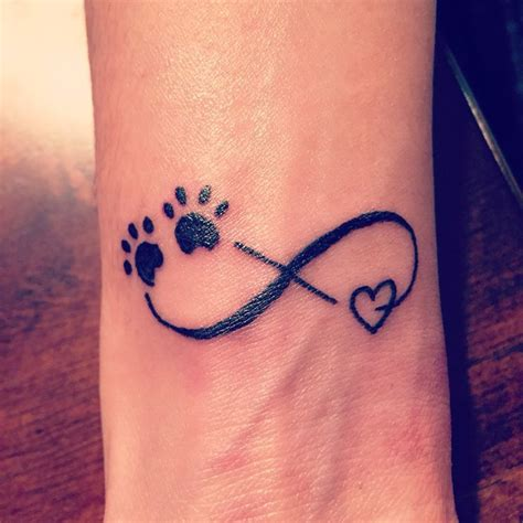 tattoo infinity dog 27 best infinity heart paw print tattoos for women images