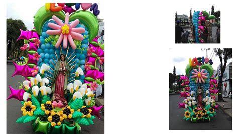 arreglo con globos para altar virgen de guadalupe altar con globos peregrinacion 2016 youtube