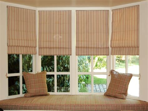 Ideas For Hton Bay Blinds Design Bay Window With Shades And Curtains Curtain Menzilperde Net