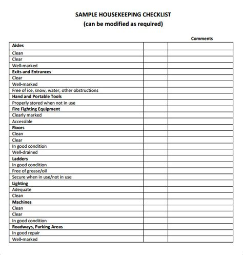 house cleaning checklist for template house cleaning checklist 6 free for pdf
