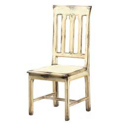 Distressed antique white side chair