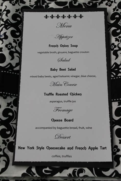 5 dinner party menu template procedure template sample