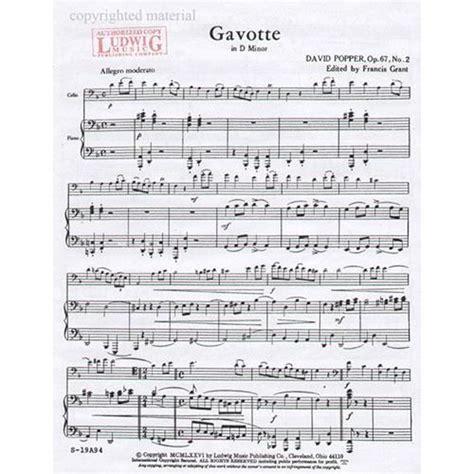 Suzuki Violin Book 2 Gavotte Popper David Gavotte In D Minor Op 67 No 2 For