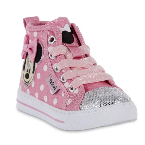 kmart toddler shoes disney toddler minnie mouse embellished high top
