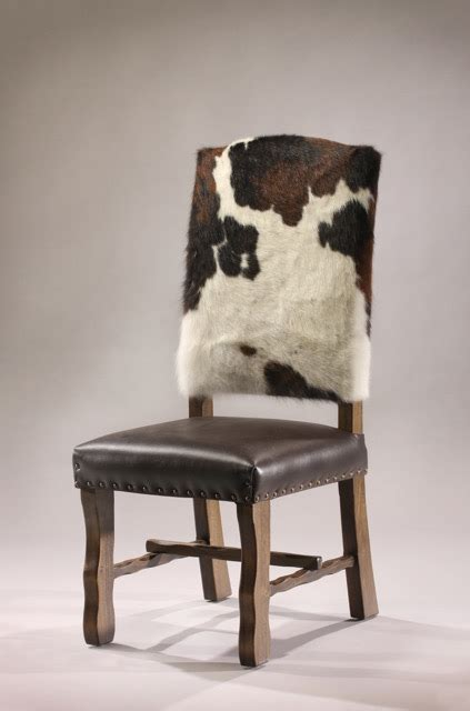 Cowhide dining chair bar stool counter stool rustic artistry