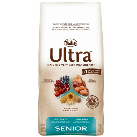 senior light dry dog food nutro ultra senior dry dog food 4 5 lb