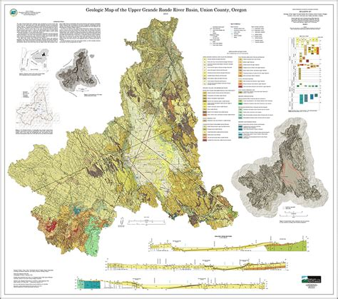 map of union oregon dogami publication preview bulletin 107 geology of