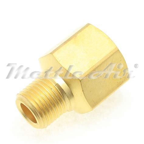 Adaptor 1 2 F X 3 8 M Tekiro Original Alat Bengkel brass pipe adaptor 1 8 quot npt m5 nickel plated