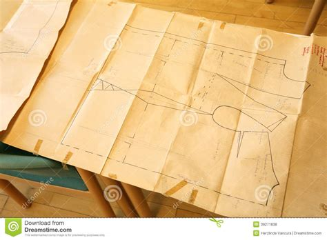 Pattern Paper For Tailoring | tailor pattern on paper stock photo image of design