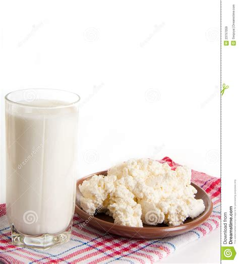 milk and cottage cheese royalty free stock images image