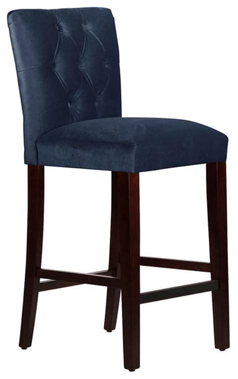 Navy Blue Fabric Bar Stools by Tufted Stool Navy Contemporary Bar Stools And