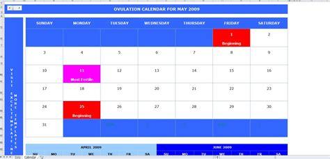 Free Ovulation Calendar Free Ovulation Calendar Calendar Template 2016