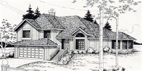Side Split House Plans Sloping Lot House Plans Hillside House Plans Daylight