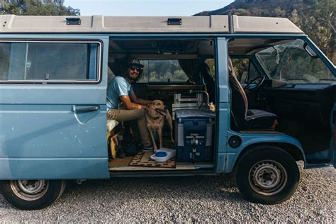 van living dirtbag dwellings van life with kyle moran and his dog