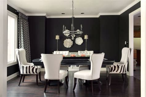 room with black walls black walls contemporary dining room benjamin