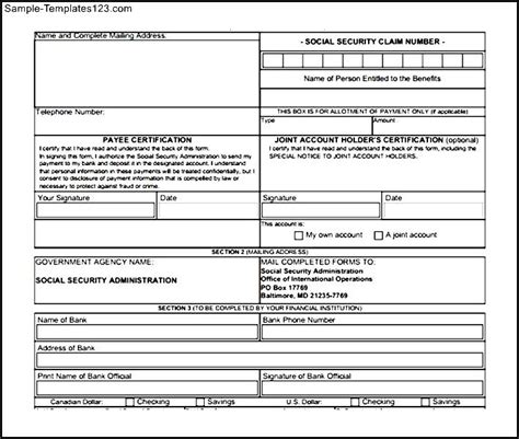 does section 8 pay security deposit social security direct deposit form sign in to your