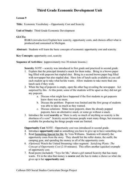 Economics Worksheets For 3rd Grade by Worksheets Opportunity Cost Worksheet Opossumsoft