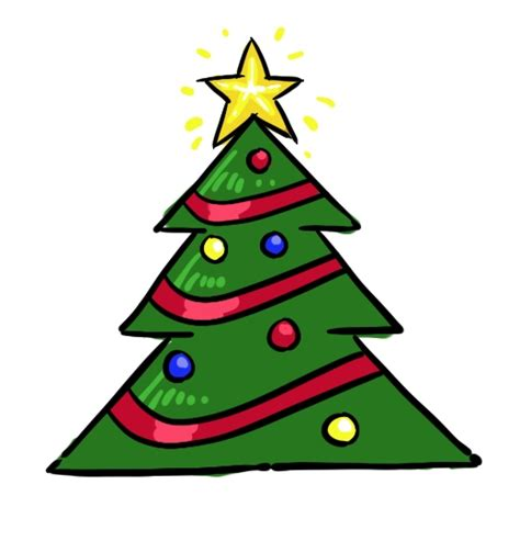 how to draw christmas trees 5 clipart panda free