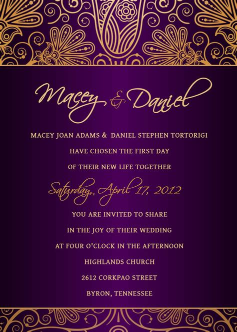 Invitation Templates Photoshop Invitation Template Wedding Card Template