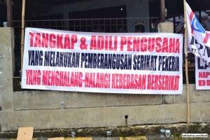 buruh pt metindo juga demo ke pemko bekasi solidaritas net