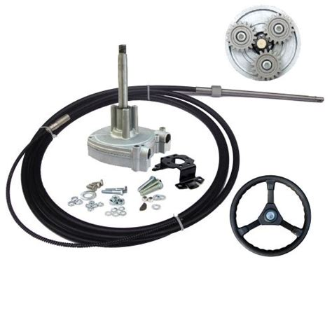 boat steering wheel and helm purchase 12 ft planetary gear outboard steering helm with