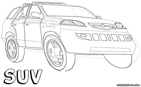 suv coloring pages coloring pages to download and print