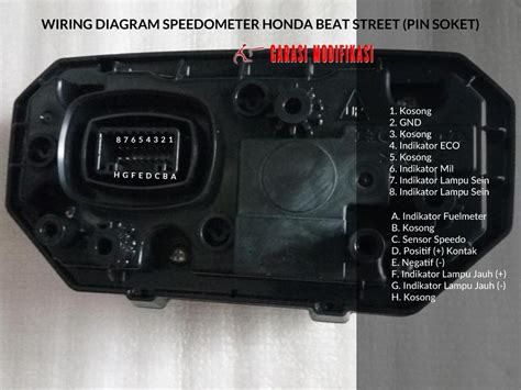 Spido Speedo Kacamika Kilometer Honda Scoopy Lama wiring diagram speedometer honda beat child garasi modifikasi